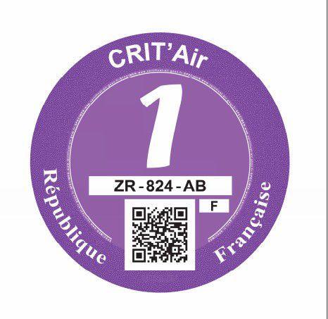 Lutte contre la pollution atmosphérique – certificats « qualité de l'air ».