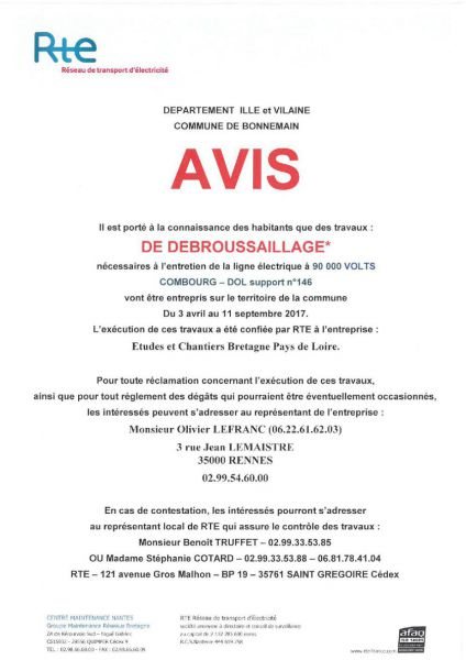 Travaux De Debroussaillage Et De Peinture Ligne Electrique 90 000